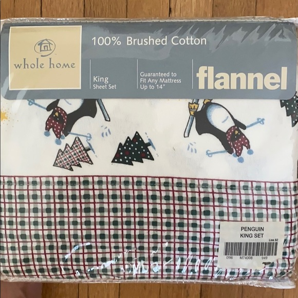 Whole Home Bedding Penguin Flannel Sheet Set Poshmark